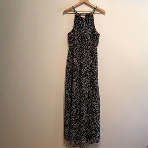 Lane Bryant gray/black/white maxi dress